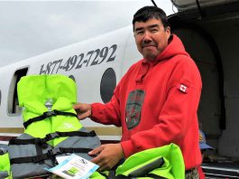 Redfern Wesley, a Kashechewan band councillor and Canadian Ranger, organized the search for the overdue boaters. credit Sergeant Peter Moon, Canadian Rangers