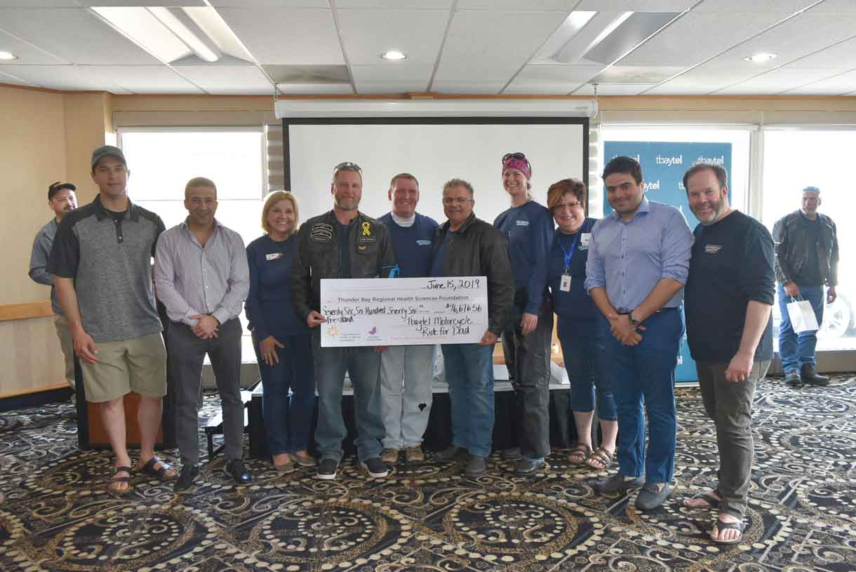 the Tbaytel Motorcycle Ride for Dad, welcomed 209 riders and 18 passengers and raised $76,676.56