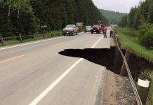 Highway 590 Washout