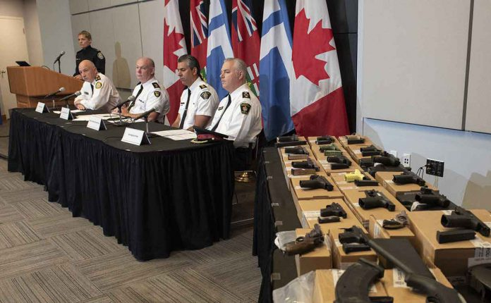 Deputy Chief James Ramer, OPP Acting Chief Superintendent Karl Thomas, RCMP Chief Superintendent Michael Lesage, York Deputy Chief Brian Bigras