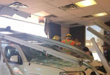 Vehicle drove through the Java Hut - Image NNL Newshawk