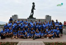 Our annual group photo at the Terry Fox Monument.
