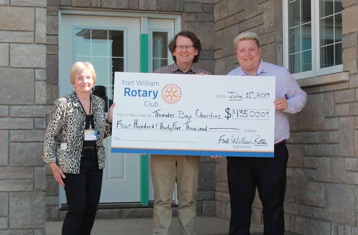 Fort William Rotary House Lottery Proceeds