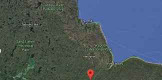 Gilliam Manitoba where the suspects were reportedly spotted