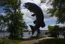 Huskie the Muskie in Kenora Ontario