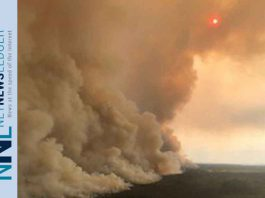 Wildfire near Pikangikum