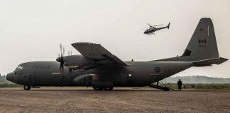 RCAF Hercules in Pikangikum