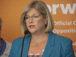 Ontario NDP Leader Andrea Horwath in Thunder Bay for Caucus Meeting