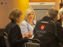 Andrea Horwath at NDP Northern Caucus Meeting in Thunder Bay