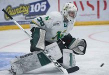 Brock Aiken will play for the Lakehead Thunderwolves in 2019-2010