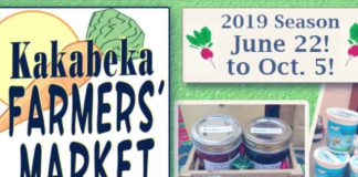 Kakabeka Falls Farmer's Market - Saturdays from 9:30 am - 12:30 pm