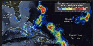 NASA Image of Hurricane Dorian