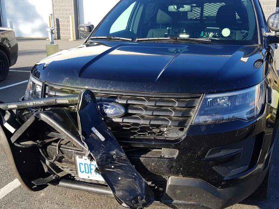 OPP Cruiser damaged