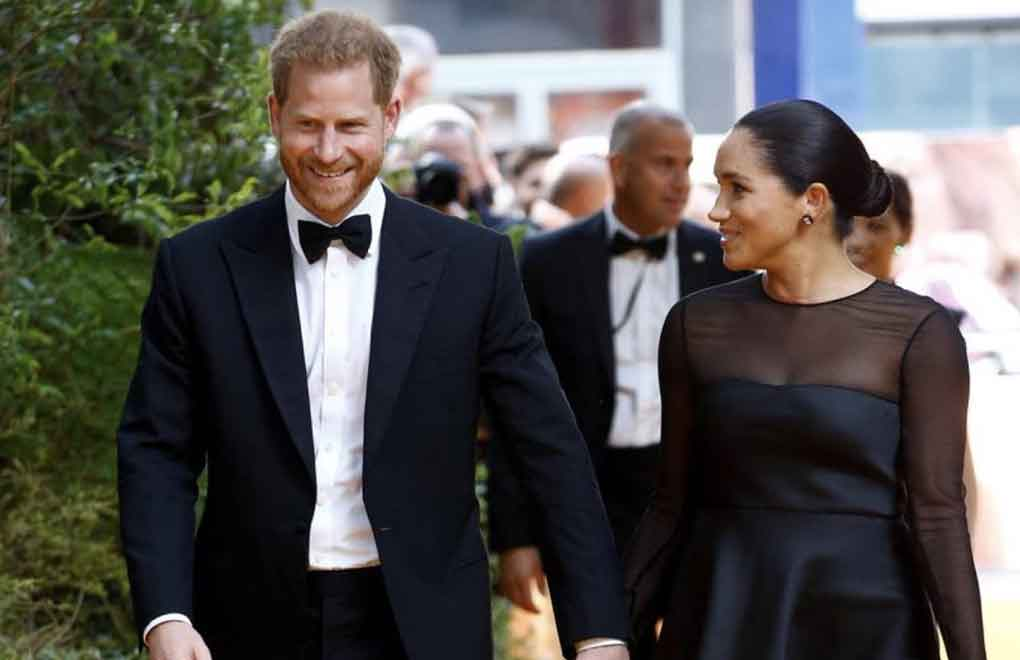 """Britain's Prince Harry and Meghan, Duchess of Sussex attend the European premiere of """"The Lion King"""" in London, Britain July 14, 2019. REUTERS/Henry Nicholls"""