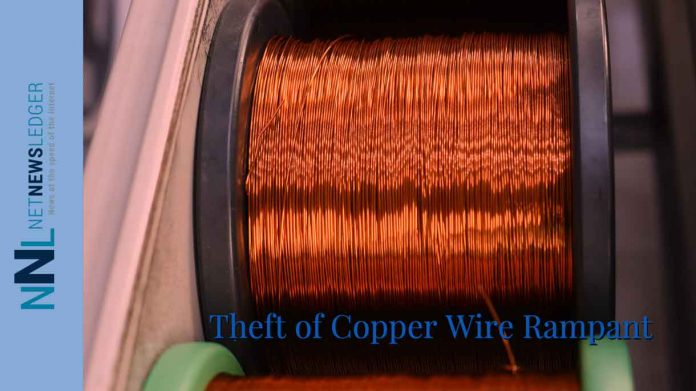 Copper wire theft is very common