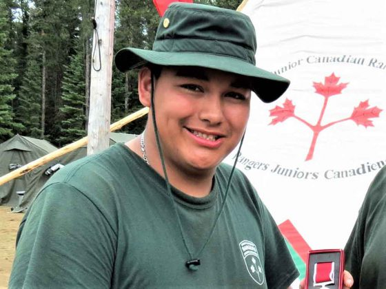 Junior Canadian Ranger Daniel Bottle of Lac Seul. Photo Credit Sgt Peter Moon Canadian Rangers