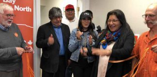 Campaign opening for NDP Thunder Bay-Superior North candidate Anna Betty Achneepineskum