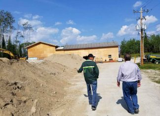 Bob Nault in Neskantaga visiting the new water treatment plant which is scheduled to open in October