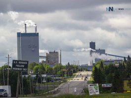 Dryden Ontario - Looking south toward the Resolute Mill