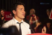 Justin Trudeau's speech implored local Liberals to talk to their friends and neighbours, get involved in the campaign, knock on doors and if possible make a donation