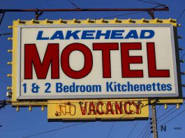 The Lakehead Motel on North Cumberland Street