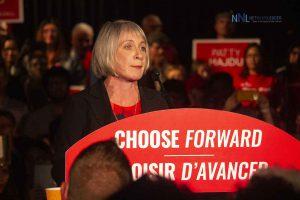 Thunder Bay Superior North Liberal candidate Patty Hajdu addresses rally