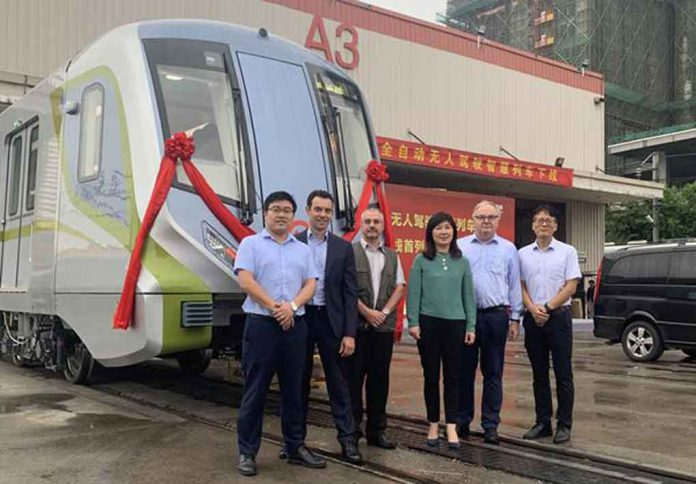 NUG, BNP and Bombardier Transportation at the roll-out ceremony