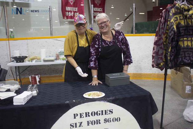 Perogies are popular at the Terrace Bay Fall Market - the ladies say that four cases of pirogies will be sold
