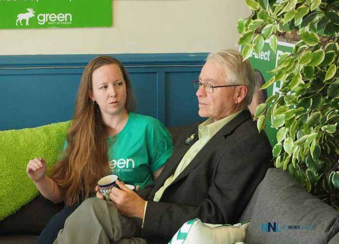 Amanda and Bruce at Green Party office in Thunder Bay