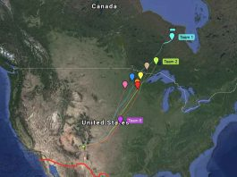 The Gas Balloon travelled far into Northern Ontario