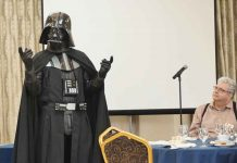 Lord Vadar with protagonist Brian Walmark