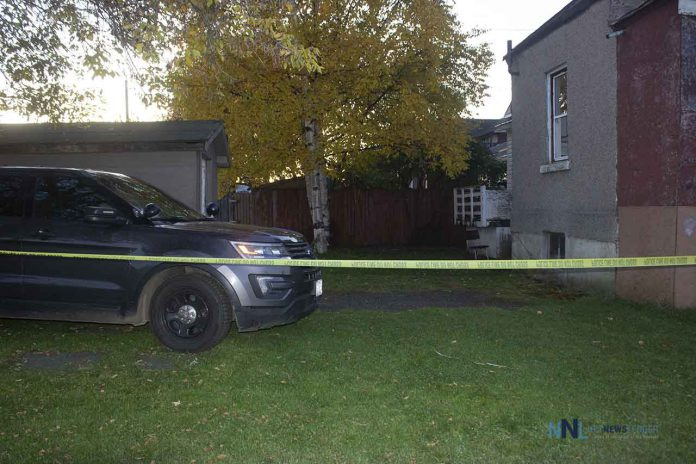 Police unit on scene this morning at Dease and Mackenzie