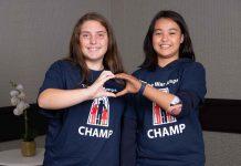 Addisyn and Tiffany at the 2019 CHAMP Seminar.