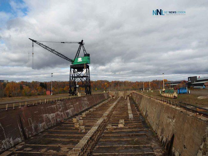 Drydock at Heddle Shipyards in Thunder Bay