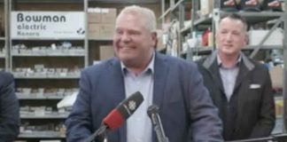 Premier Doug Ford in Kenora making Infrastructure announcement