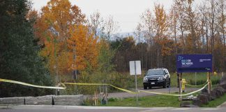 Thunder Bay Police on scene at Marina Park south of the Spirit Garden - Photo - James Murray