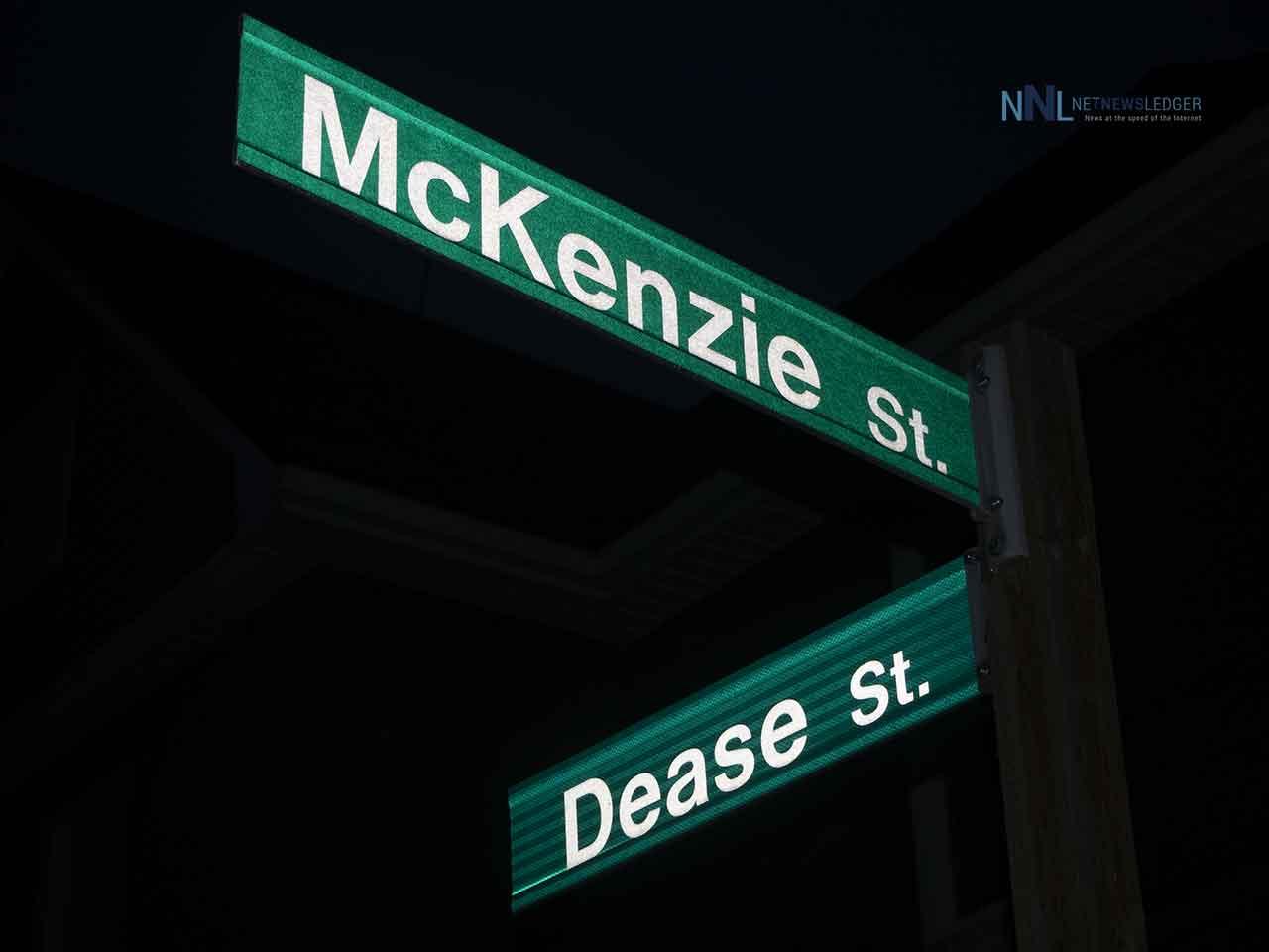 Dease and MacKenzie Street