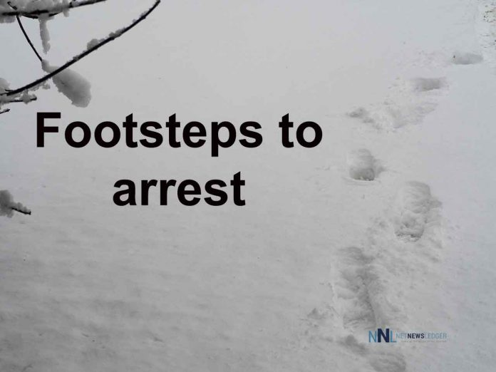Footsteps led to arrest of carhopped - Shot with an OLYMPUS DIGITAL CAMERA
