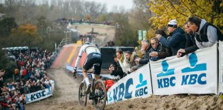 Mathieu van der Poel performs during round 5 of the UCI Cyclocross World Cup in Koksijde, Belgium on November 24, 2019 // Balint Hamvas / Red Bull Content Pool // AP-229Q75N6S2111 // Usage for editorial use only //