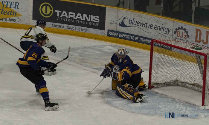 Daniel Del Paggio scores to tie the game with one minute left in the first period - shot with an OLYMPUS DIGITAL CAMERA