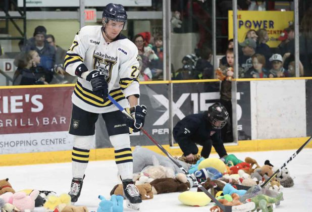 The Teddy Bear Toss saw 35 bags of bears collected