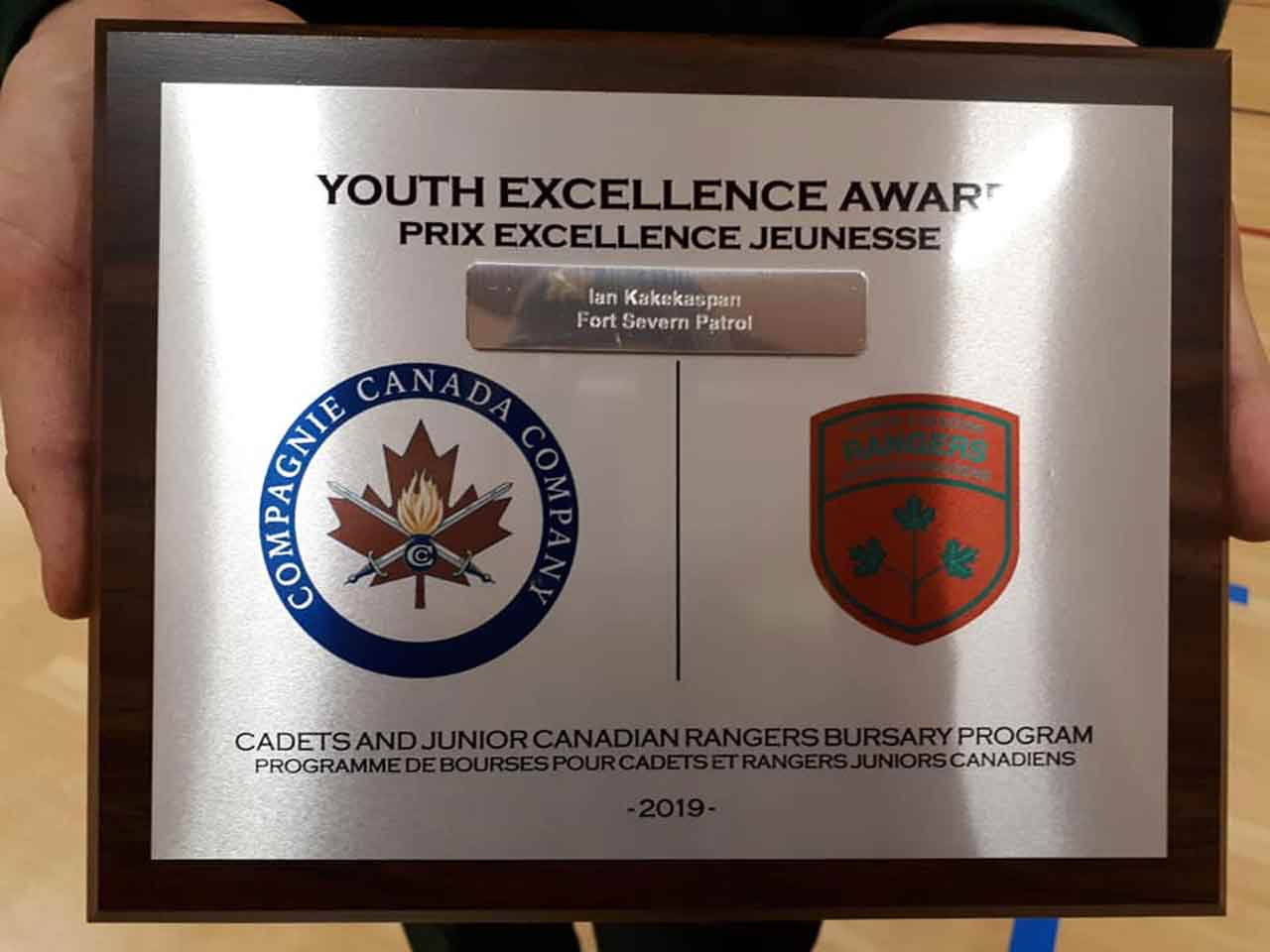 The Canada Company plaque.  Credit Corporal Lori Kendall, Canadian Rangers