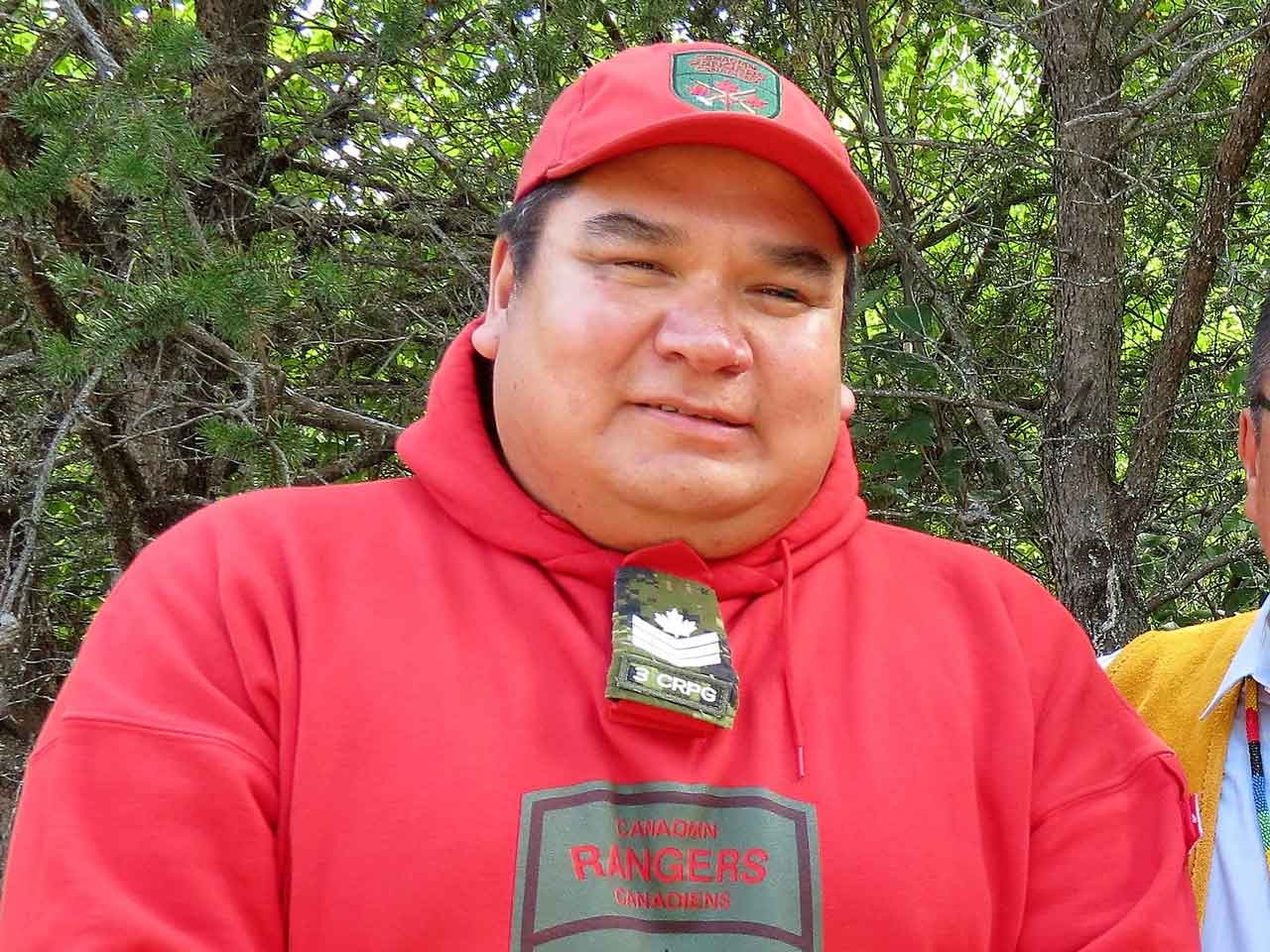 Sergeant Matthew Gull has been a Canadian Ranger for 22 years - photo Sgt. Peter Moon Canadian Rangers