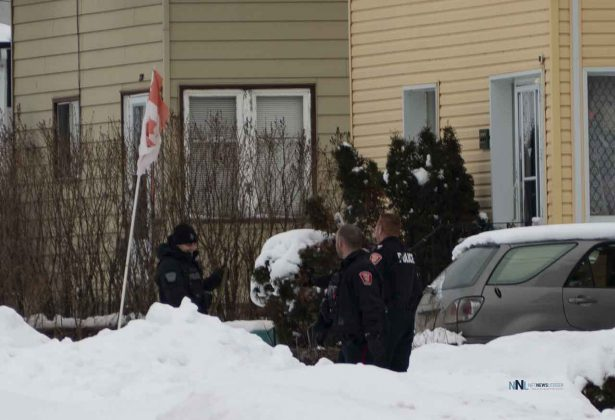 Thunder Bay Police Presence on McCulloch Street on January 3 2020