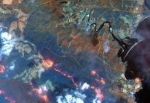 A view shows fire lines south of Eden, New South Wales, Australia, in this handout Maxar's WorldView-3 satellite image taken on January 12, 2020. Satellite image ©2020 Maxar Technologies/Handout via REUTERS