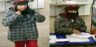 Thunder Bay Police Service Image of Robbery Suspect