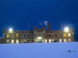 Thunder Bay District Jail shot at night. January 23 2020