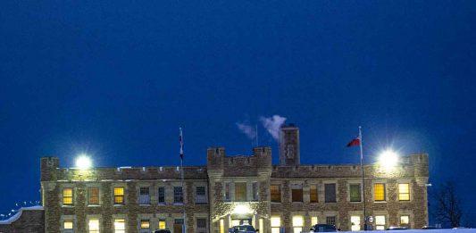 Thunder Bay District Jail shot at night. January 23 2020