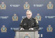 At a press conference this morning, Winnipeg Police update media on the city's first two homicides of 2020