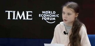 Greta Thunberg addresses World Economic Forum delegates